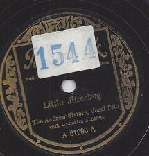 Andrew Sisters  singen 1938 :  Little Jitterbug + Pross Tschai