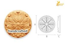 Antique wood medallion for cabinets (10 pc.)