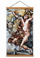 Prochazka Prometheus Greek Myth Painting Canvas Wall Art Print Poster