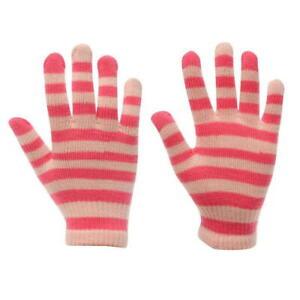 Kids Gloves Girls Pink White Gelert Warm Knitted Magic Glove Childrens