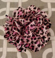 "New listing 4"" Pink Leopard Dog Collar Flower"