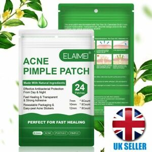 24 Acne Pimple Spot Zit Face Patches Treatment Stickers Resealable Master pouch