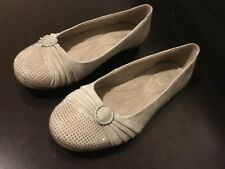 Hotter Suede Sandals Dolly Shoes PUMPS Size 5.5 Flint Sparkle