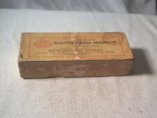 Vintage old fishing lure box only South Bend Minnow 905 RAIN Box