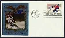 #1796 15c Downhill Skiing, Ross Silver Foil FDC **ANY 4=FREE SHIPPING**