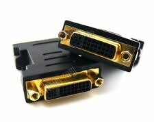 24+5 DVI Female to Female Connector Coupler Gold Plated Screw Panel Fixing CRY