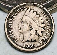 1860 Indian Head Cent Penny CN 1C Ungraded Good Civil War Era US Coin CC6870