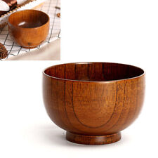 Japanese Style Wooden Bowl Soup/Salad Rice Soup Bowls Natural Wood Tableware