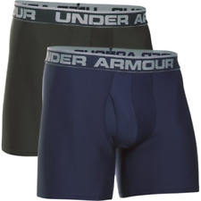 Under Armour 1282508412MD Men's Navy/Green O Series 6'' Boxer Medium (2 Pack)