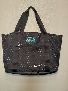 Nike Gym Tote Carry All Yoga Workout Black polka dots bag super spacious nylon