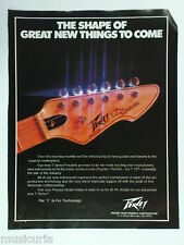 retro magazine advert 1982 PEAVEY t-25 guitar