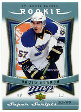 2007-08 Upper Deck MVP Super Scripts DAVID PERRON Rare St Louis Blues SP RC #/25