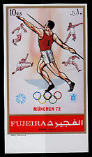 FUJEIRA MICHEL#B882 (B) MNH JAVELIN THROWER IMPERFORATE