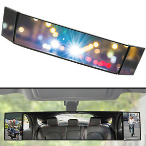 Car Truck Van ClipOn Large Vision Rear View Blind Spot Mirror Wide Angle Pickup