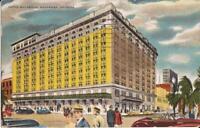 Savannah, GEORGIA - Hotel Savannah - 1947 - ADVERTISING old cars, period clothes