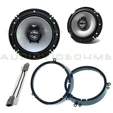 "Kenwood 6.5"" Car Door Speakers+Harness+Adapter Mount Brackets for Honda"