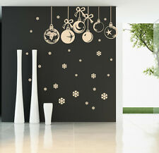 CHRISTMAS BAUBLES WALL STICKER Window Stickers  Christmas Baubles Stickers SS72