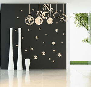 CHRISTMAS BAUBLES WALL STICKER Window Stickers  Christmas Baubles Stickers S72