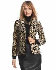 Chico's Leopard Velveteen Jacket NWT Size 4