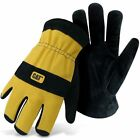 Caterpillar Cat Split Leather Lined Insulated Winter Work Gloves Large