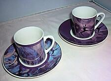 2 STUNNING COALPORT ROYAL BALLET ESPRESSO COFFEE SMALL CUP AND SAUCER