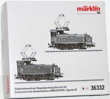 Märklin H0 36332 Caja Vacía Der Locomotora Eléctrica Paquete Doble Serie Ee 3/3