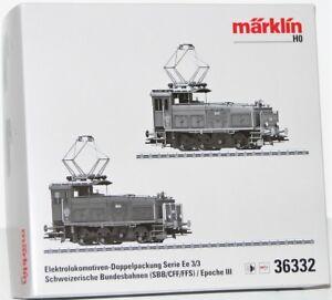Märklin H0 36332 Leerkarton der E-Lok Doppelpackung Serie Ee 3/3 - NEU
