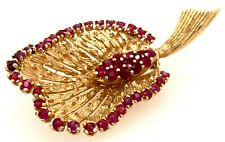 "2 1/8"" Leaf Brooch Pin 10.0 Grams New listing