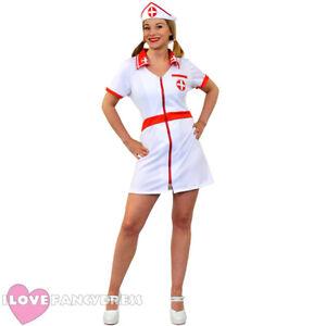 LADIES SEXY NURSE FANCY DRESS COSTUME ADULT WOMENS HOSPITAL UNIFORM HEN PARTY