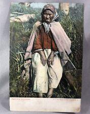 c 1910 Indian Squaw British Columbia Canada Postcard Antique Native American