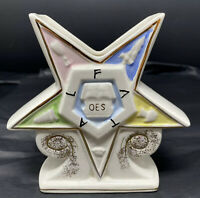 Vintage OES Eastern Star Vase Temple Treasures Kistner Masonic Fraternity Jet