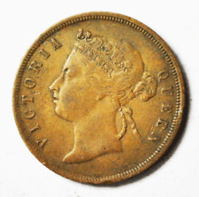 1889 1c Straits Settlement One Large Cent Bronze Coin KM#16