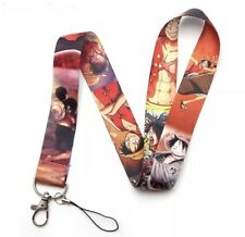 New ! ONE PIECE BLUE LANYARD anime pirate Monkey D Luffy Nami keychain
