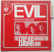"""THE EDGAR BROUGHTON BAND - FRENCH 7"""" EVIL/DEATH OF AN ELECTRIC CITIZEN - RARE"""