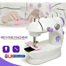 Electric Portable Sewing Machine Overlock 2 Speed LED Mains Powered Foot Pedal