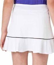 New Slazenger Women's Omagh Ruffle Knit White Golf Skort Size Large