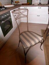 Vintage sedie in ferro battuto