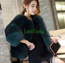 Ladies Faux Fur Coat Short Warm Winter Outdoor Korean Leisure Comfort Jacket New