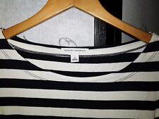 Women Top New Banana Republic Navy & White Stripe Boat Collar Long Sleeve Shirt