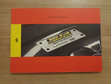 Ferrari 16M Scuderia Spider Owners Handbook/Manual