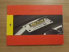Ferrari 16M Scuderia Spider Owners Handbook/Manual
