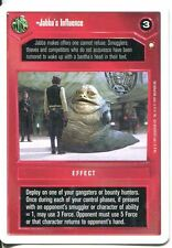 Star Wars CCG First Anthology White Border Preview Card Jabbas Influence
