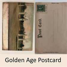 Antique Golden Age Postcard New Gates Roger Williams Park RI Unused 1 Cent Rare