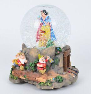 "Snow White and the Seven Dwarfs Disney Hallmark Musical Snow Globe ""Heigh Ho"""