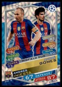 Match Attax Champions League 16/17 Andr�s Iniesta/Andr� Gomes Barcelona No.FCB18