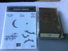 Stampin Up! Spooky Sweets-photopolymer stamp set& Spooky Bats Punch-NEW
