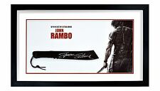 Sylvester Stallone John Rambo Autographed Framed RAMBO Machete ASI Proof