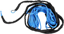 "Moose Utility Blue 3/16"" x 50' Synthetic Universal ATV Offroad Winch Rope Cable"