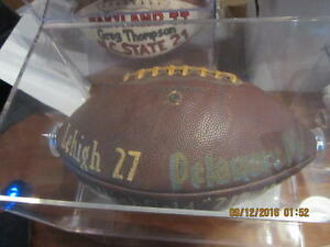 "1960 Lehigh 27 - Delaware 14 John Highfield ""21"" Game Football"