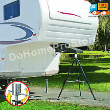 Fifth 5th Wheel Tripod King Pin Jack Stabilizer Adjustable Height Camper Stand